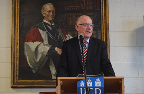 Minister Flanagan at the Launch of Irish Anzacs Database at UCD, 17 October 2014