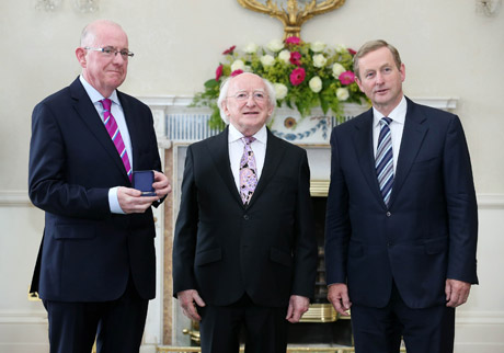 Minister Flanagan, Taoiseach and President Higgins