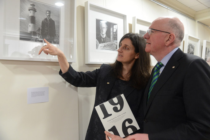 Ruth Hegarty, Royal Irish Academy with Minister for Foreign Affairs Charlie Flanagan TD launching the 2016 Centenary Programme