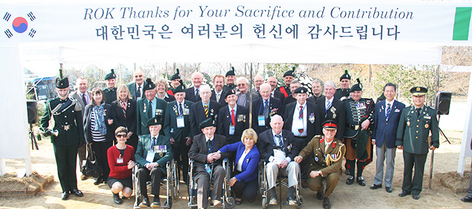 Irish veterans and others connected to the conflict in Korea visited the site of the battle of Happy Valley, 62 years on.