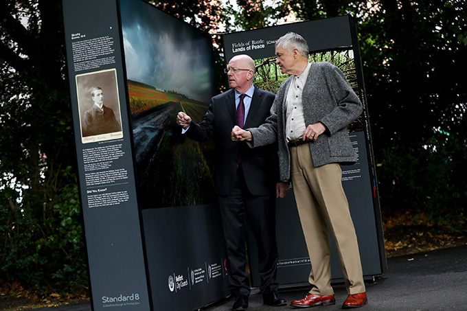 Minister Flanagan launches Mike Sheil's photography exhibition