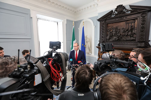 Statement by Tánaiste following Speech by Prime Minister May
